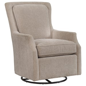Bassett Accent Chairs Kent Accent Swivel Glider Chair