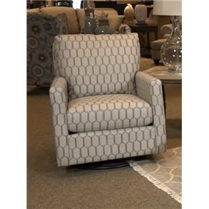 Bassett Accent Chairs Trent Swivel Glider