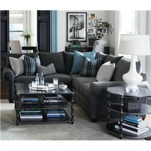 Bassett Alex 3989 L-Shaped Sectional Sofa