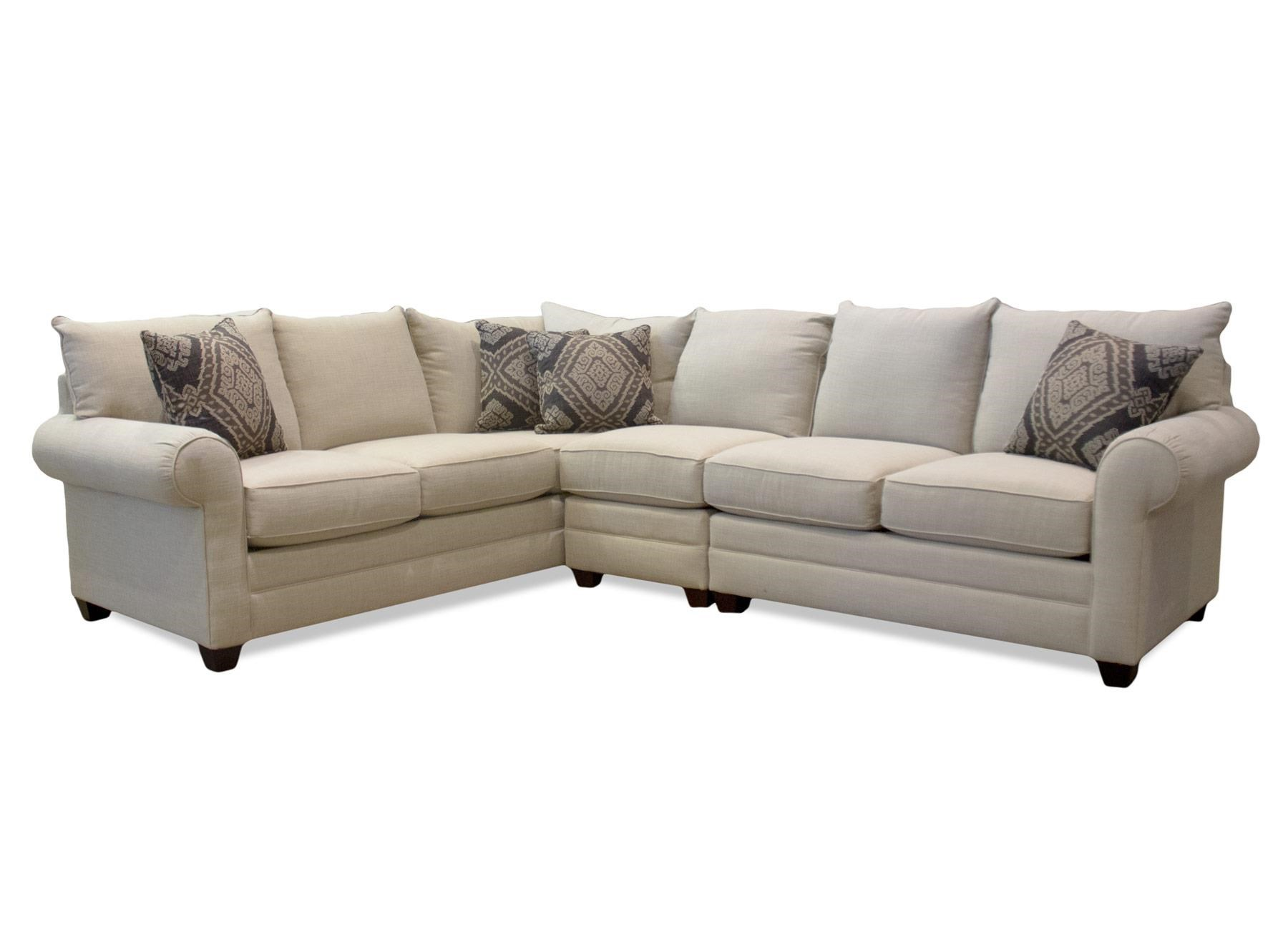 Bassett Alex 3989 Three Piece Sectional - Item Number: BASF-GRP-3989-ALEX-3PC-SECTIONAL