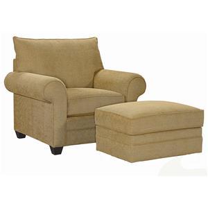 Bassett Alex Chair & Ottoman