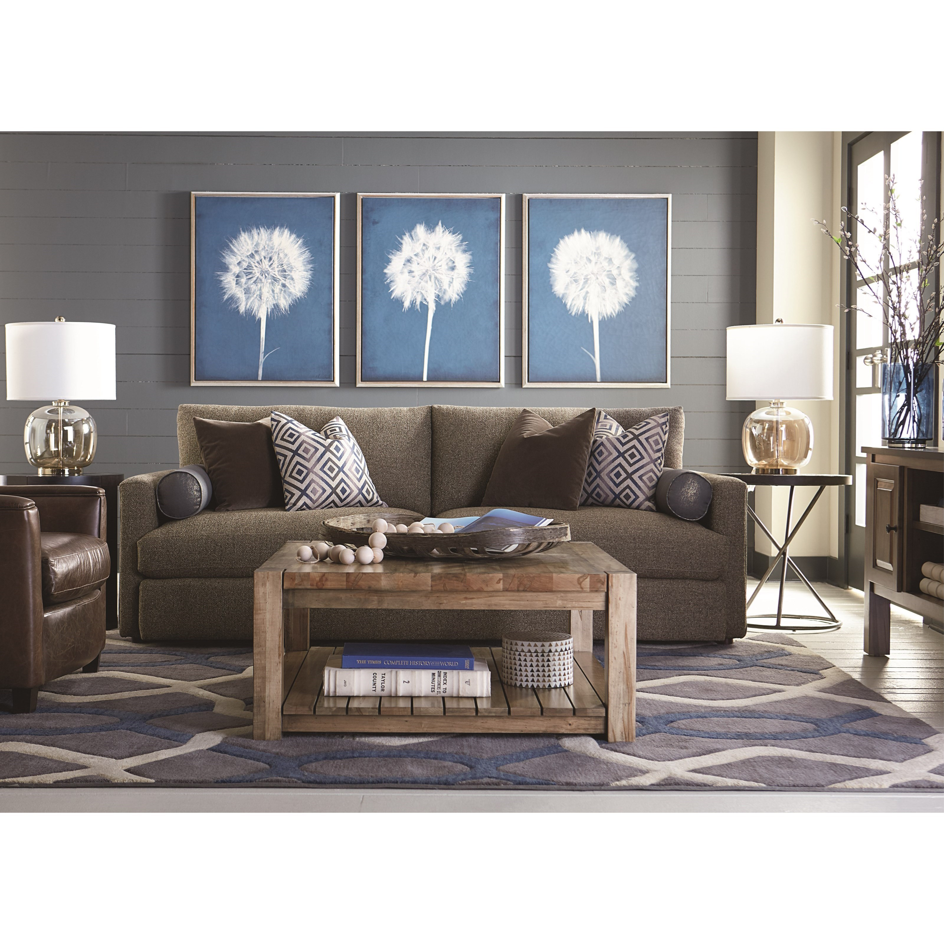 Bassett Furniture Store Hours: Bassett Allure 2611-62FC Contemporary Sofa With Track Arms