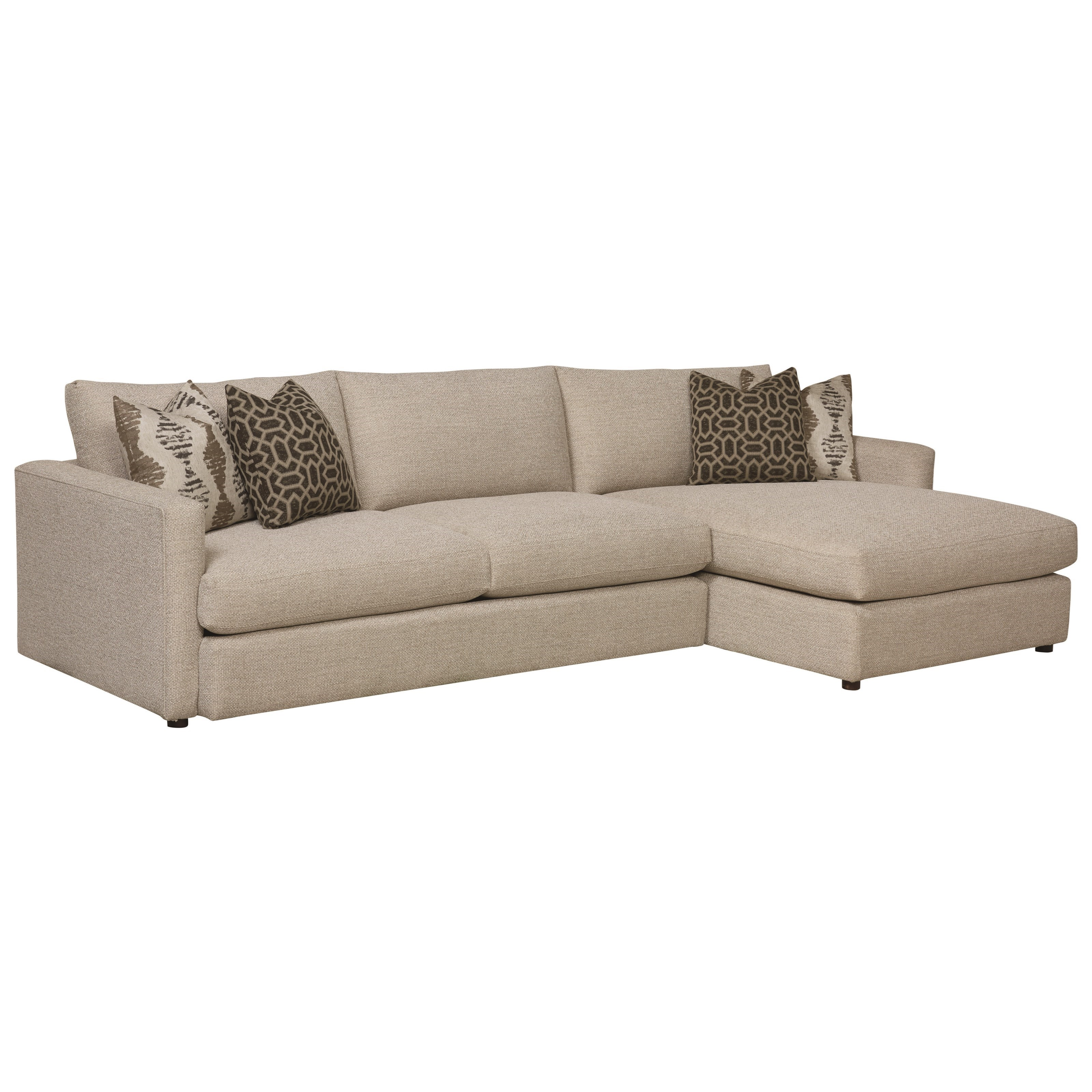 Bassett Allure Contemporary Sectional With Right Arm