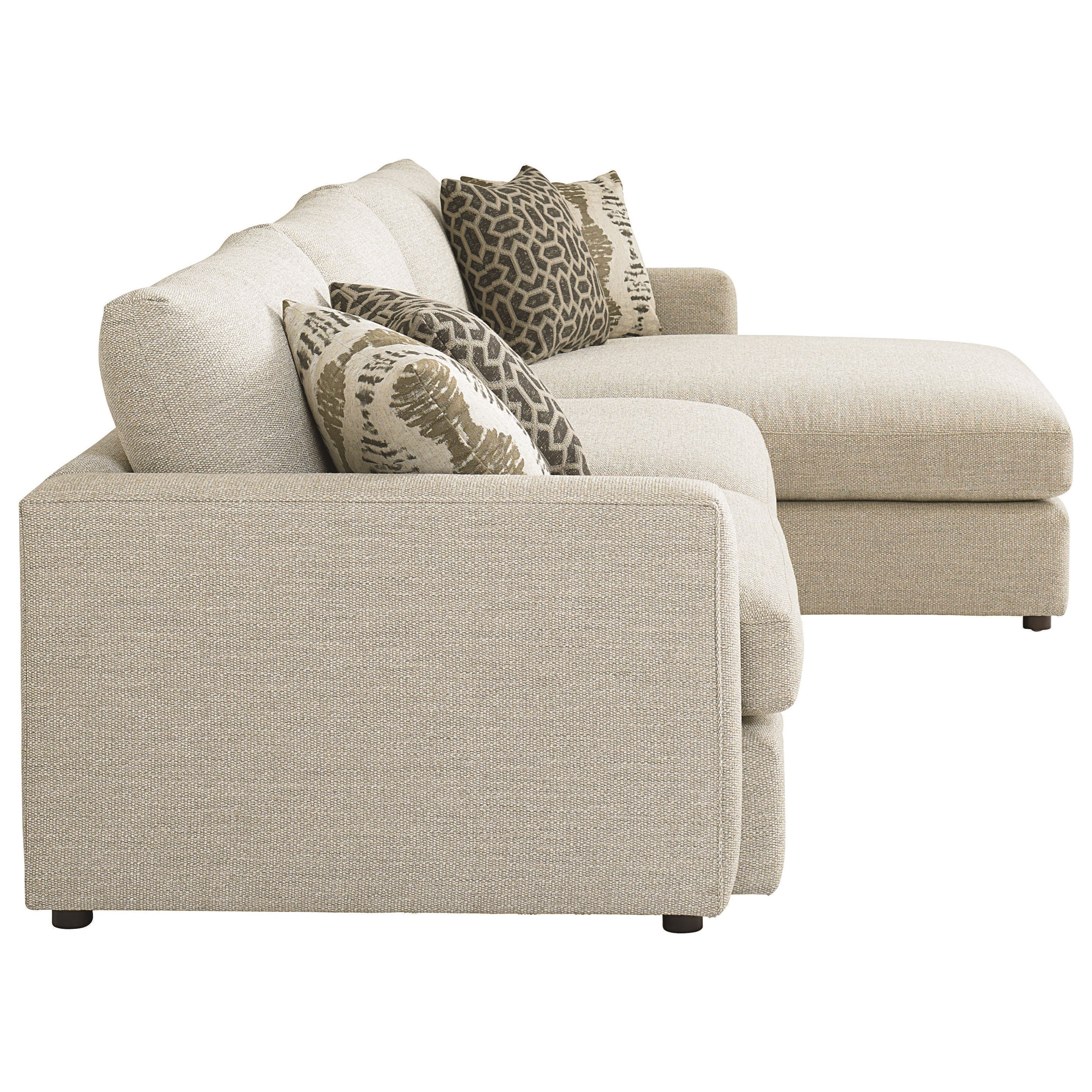 Bassett Allure Contemporary Sectional with Right Arm ...
