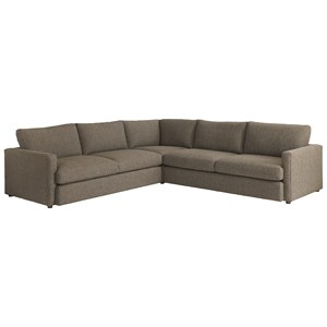 Bassett Allure 2611 by Bassett Sectional with 4 Seats