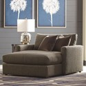 Bassett Allure Contemporary Chaise with Track Arms