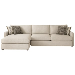 Bassett Allure Sectional with Left Arm Facing Chaise