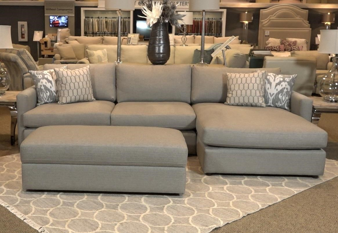 Bassett Allure 2611 by Bassett Two Piece Sectional in Dove - Item Number: BASF-GRP-2611-ALLURE-2PC-SECTIONAL