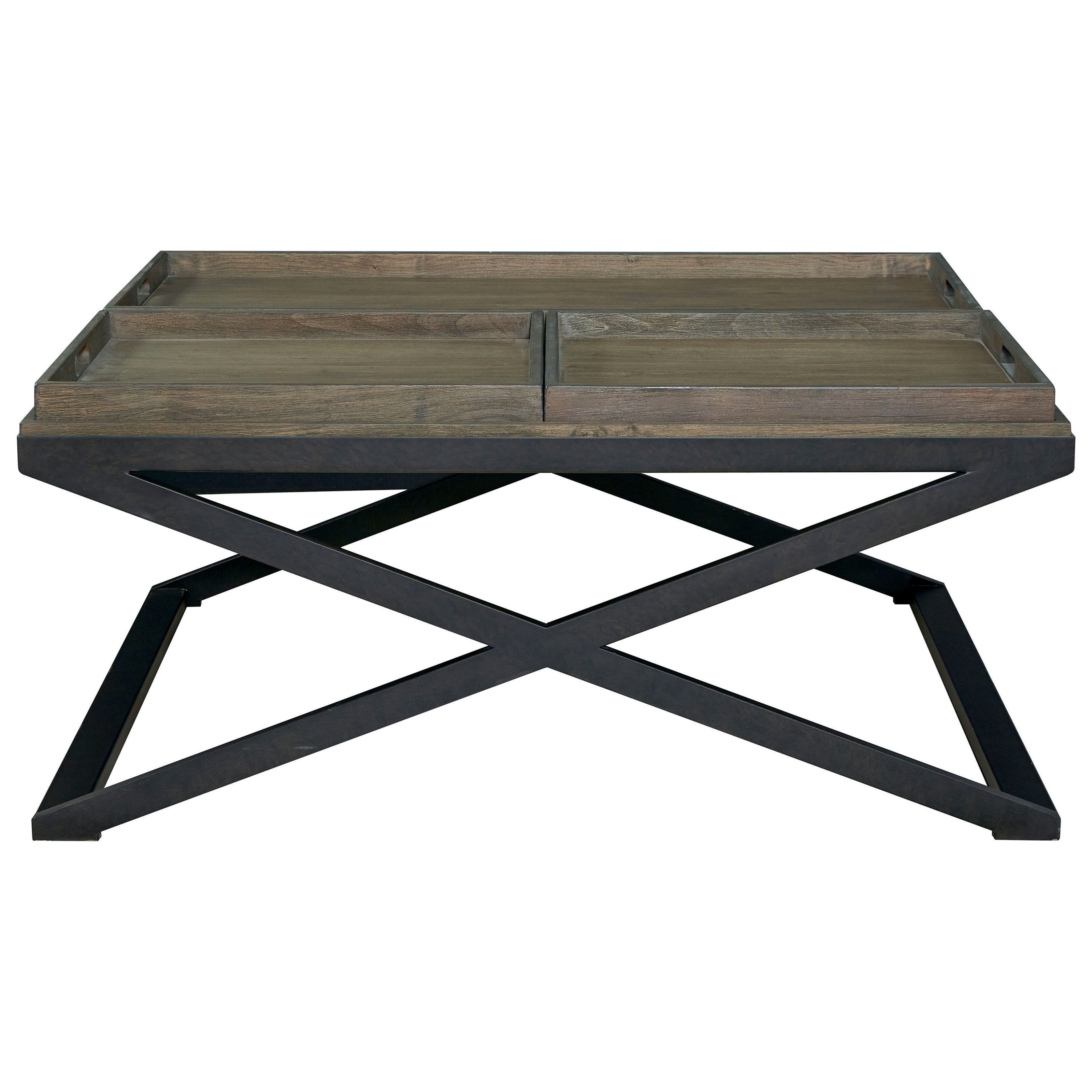 Artisanal Tray Cocktail Table by Bassett at Fisher Home Furnishings