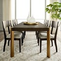 Bassett Modern - Astor and Rivoli 7-Piece Table and Chair Set - Item Number: 4523-4090+6x2451