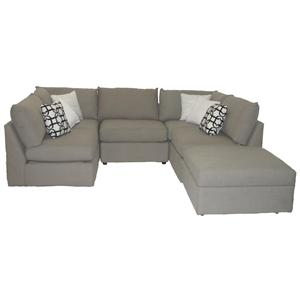 Bassett Beckham 3974 Sectional Sofa