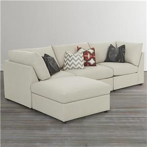 Bassett Beckham 3974 Custom L-Shaped Modular Sectional