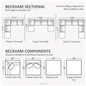 Bassett Beckham 3974 Custom U-Shaped Modular Sectional