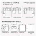 Bassett Beckham 3974 Custom Modular U-Shaped Sectional