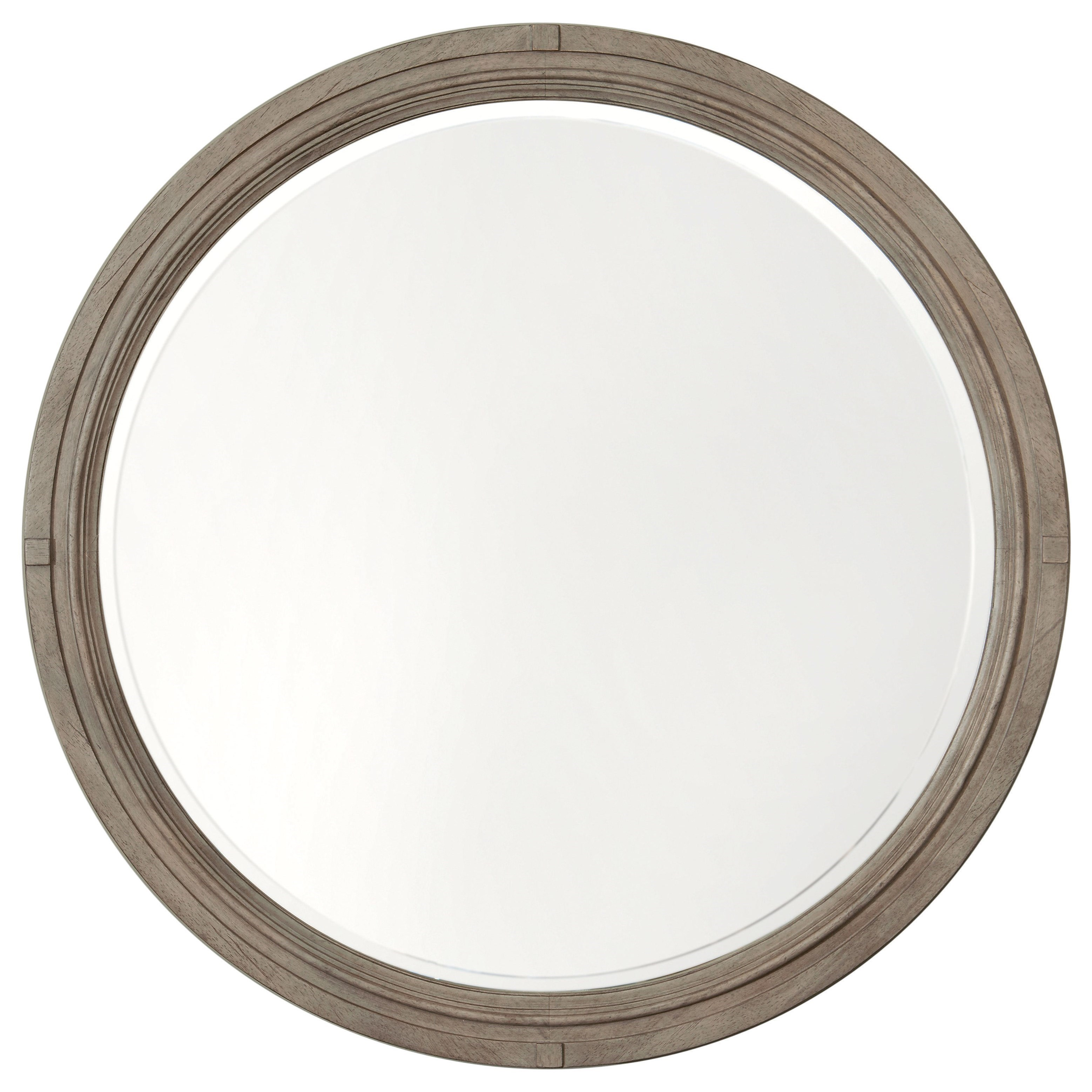 Bella Round Mirror by Bassett at Johnny Janosik