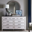 Bassett Bella Dresser and Mirror Set - Item Number: 2572-0228+0209