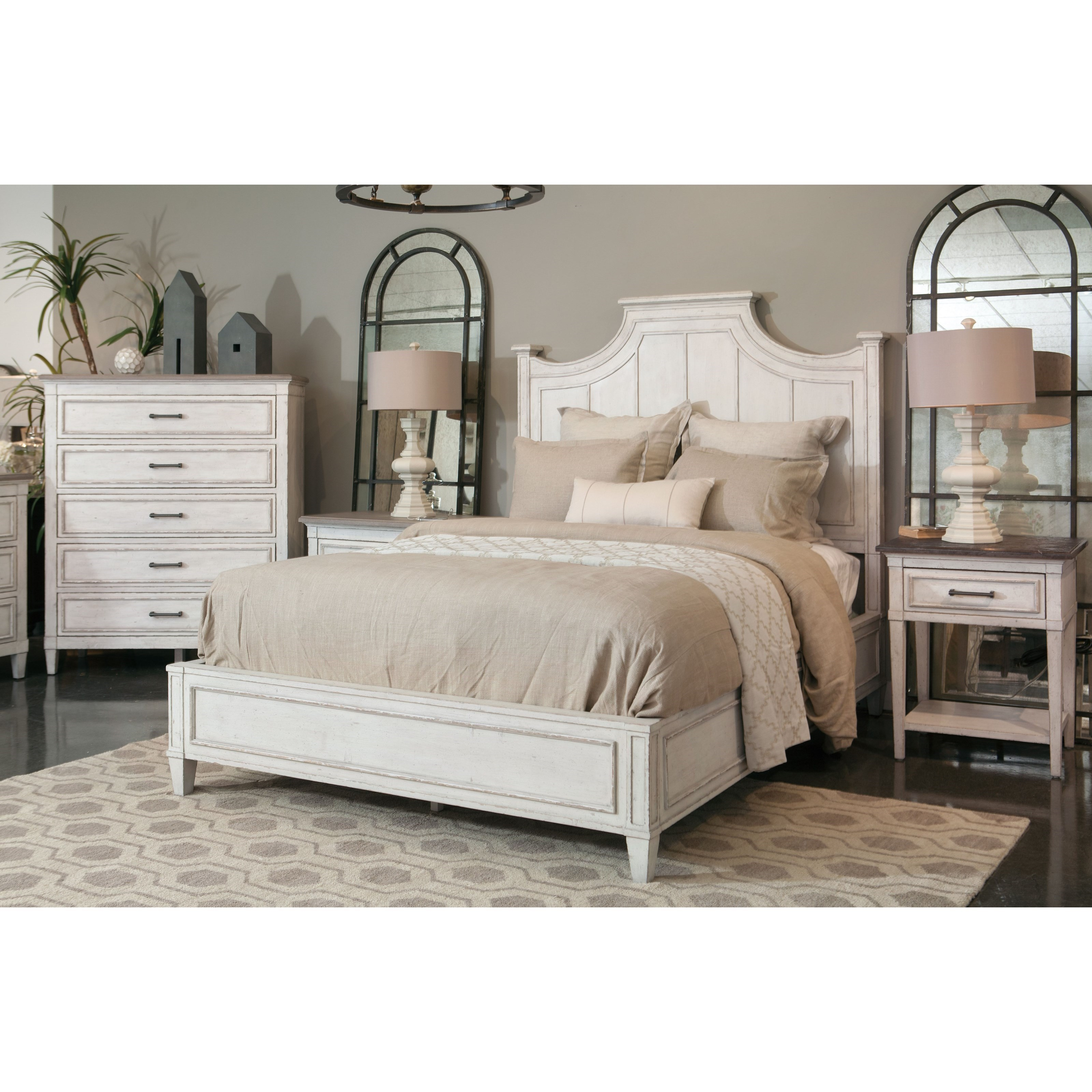 Bassett Bella Cottage 5 Drawer Chest With Weathered Finish