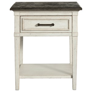 Bassett Bella Stone Top Bedside Table