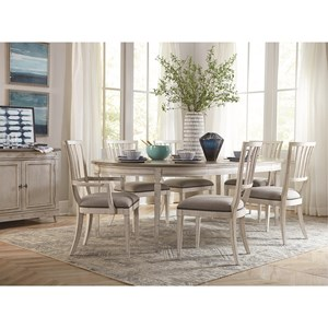 Bassett Bella 7 Piece Table and Chair Set