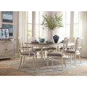 Bassett Bella 7 Piece Table and Chair Set - Item Number: 4572-5252+2x2450+4x2451