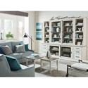 Bassett Bella Wall Bookcase - Item Number: 9572-0860+0760+2x0520+2x0220+T100