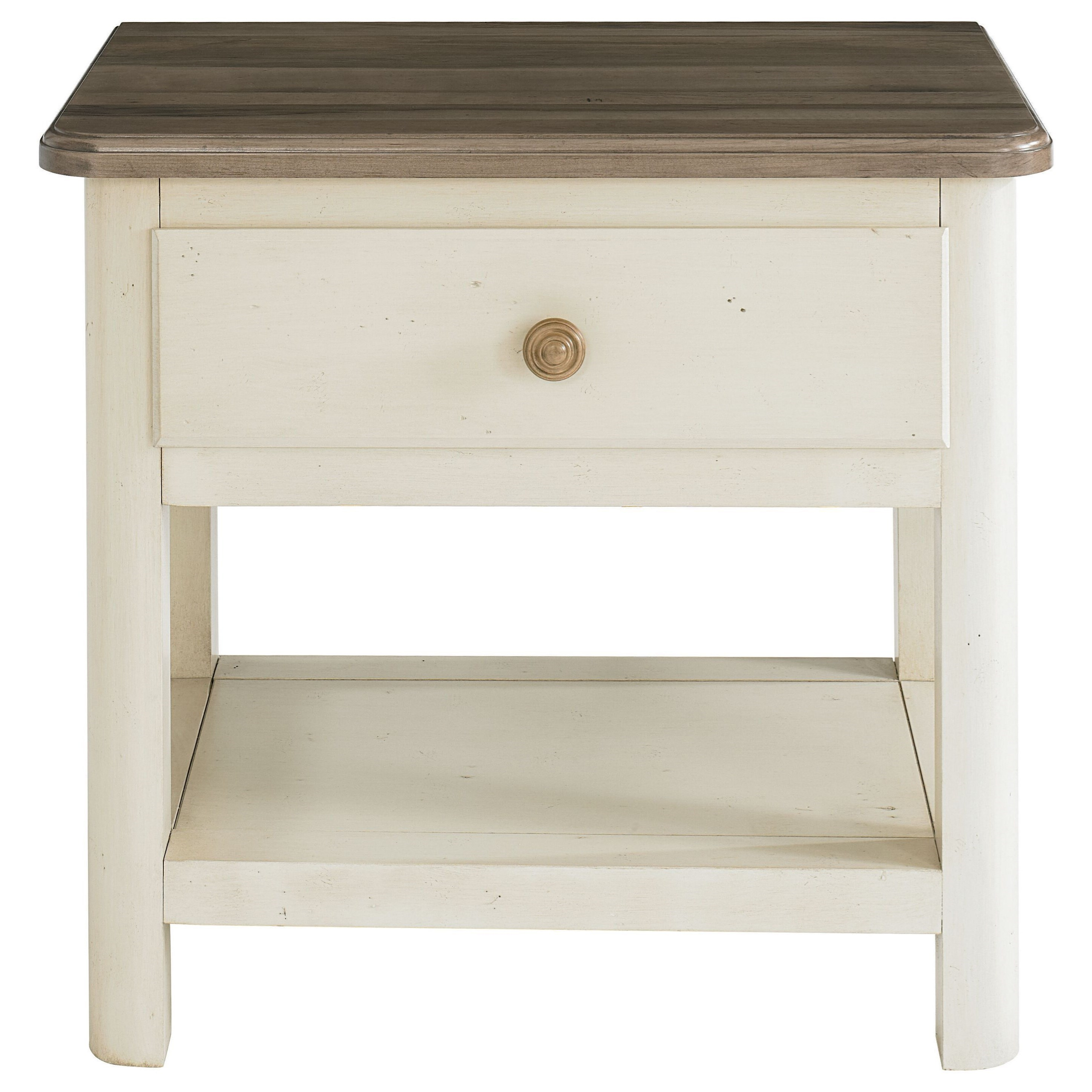 Bench Made Maple Nightstand by Bassett at Virginia Furniture Market