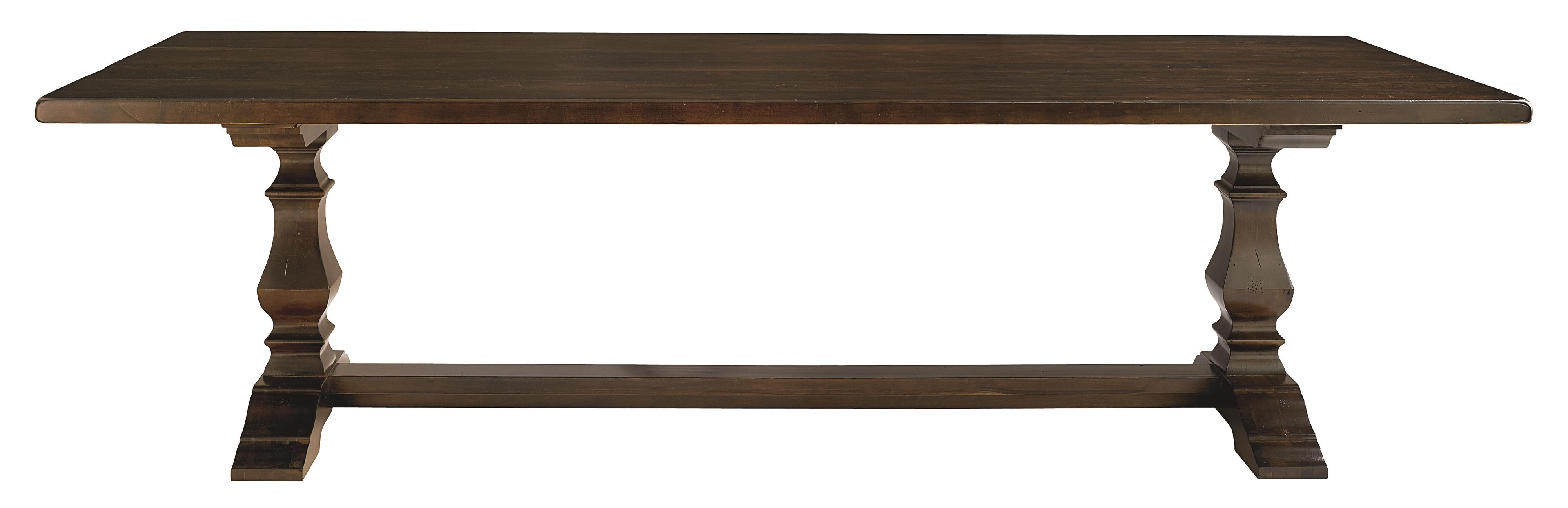 """Bench Made Maple 108"""" Rectangular Table by Bassett at Virginia Furniture Market"""