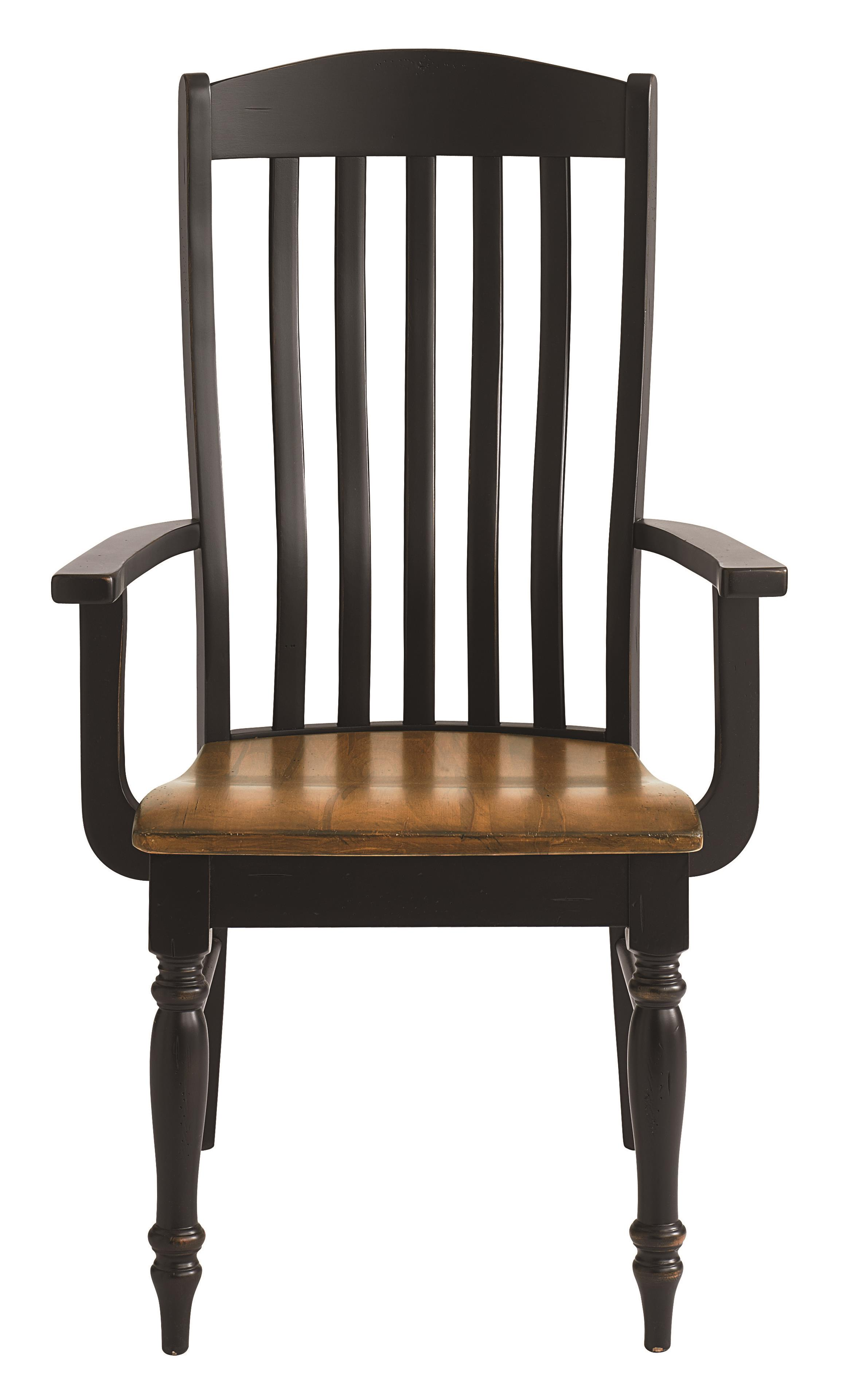 Bassett Bench Made Henry Arm Chair - Item Number: 4015-1000-HENRY-Lampblack-Agsaddle