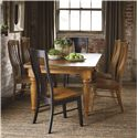 Bassett Bench Made Maple Six Person Table Set - Item Number: 4015-4272+2x2000-BOONE+4x2000-HENRY