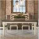 "Bassett Bench Made 72"" Farmhouse Table - Item Number: 4015-4272-Fhwhite-Wbarn"