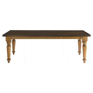 "Bassett Bench Made 90"" Farmhouse Table"