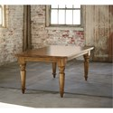 "Bassett Bench Made Maple 90"" Farmhouse Table - Item Number: 4015-4290-Aged Saddle"