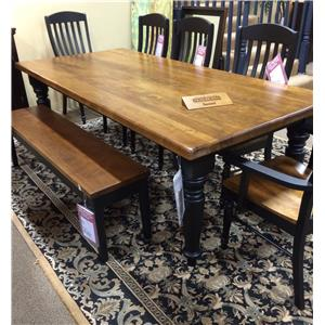 Bassett Bench Made Seven Piece Dining Set