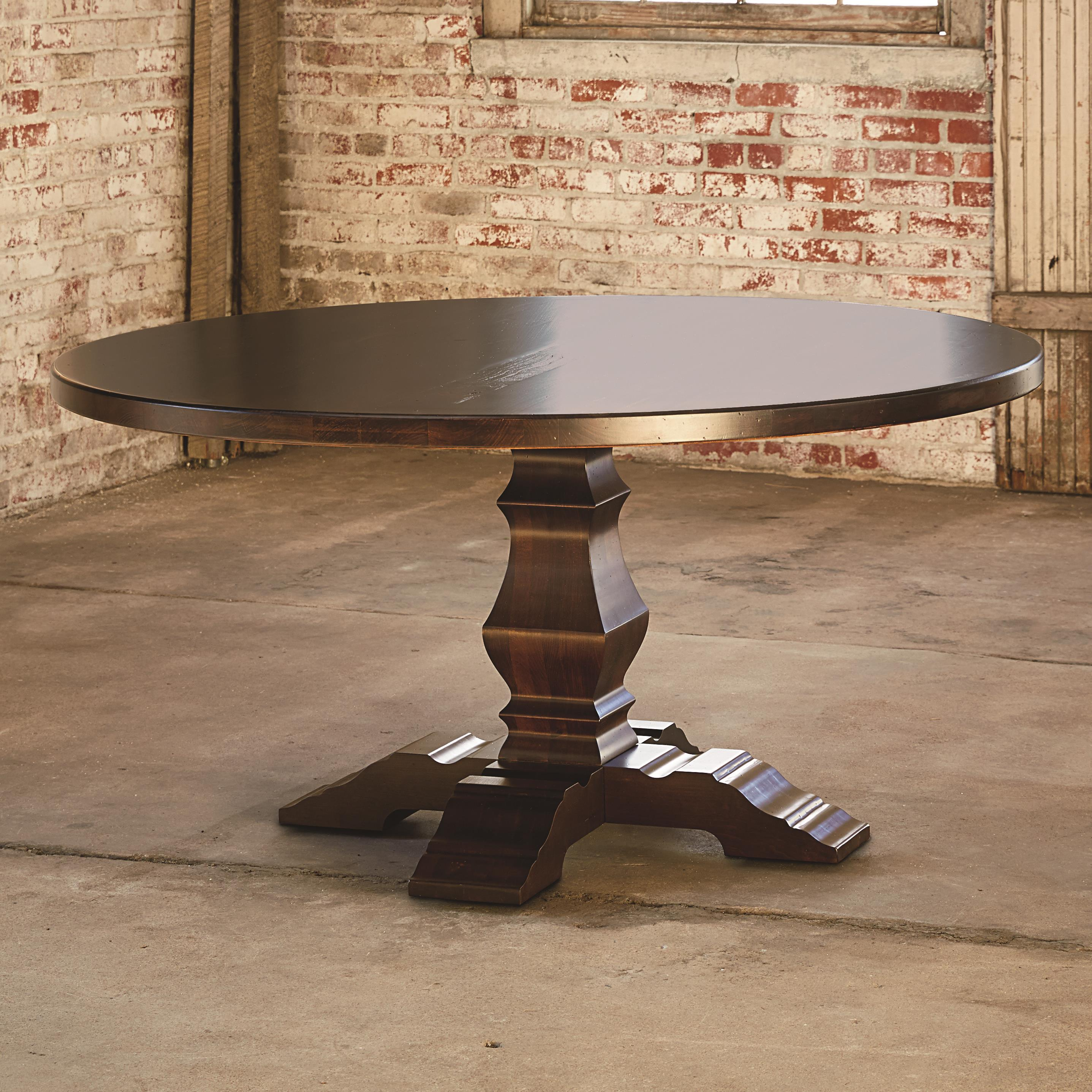 "Bench Made Maple 60"" Tavern Table by Bassett at Virginia Furniture Market"