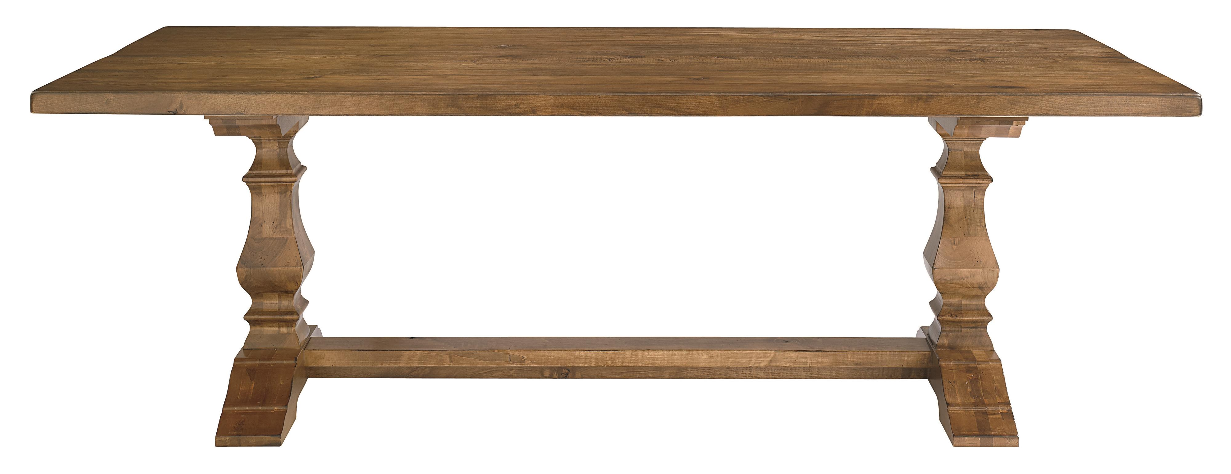 "Bassett Bench Made 90"" Rectangle Table - Item Number: 4015-9042-HARV-Agsaddle"