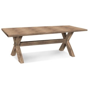 "Bassett Bench Made 90"" Rectangular Table"