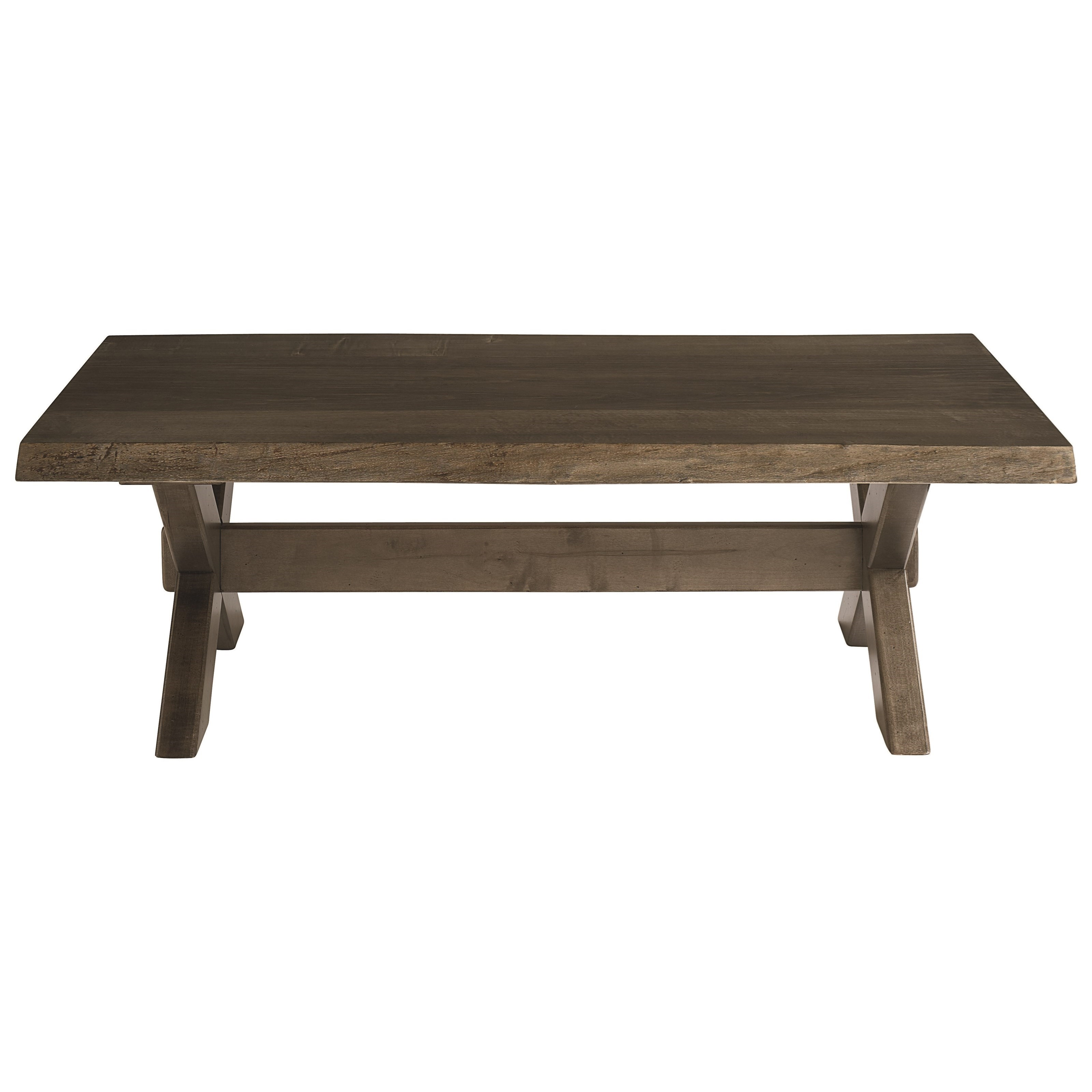 Cross Buck Live Edge Cocktail Table