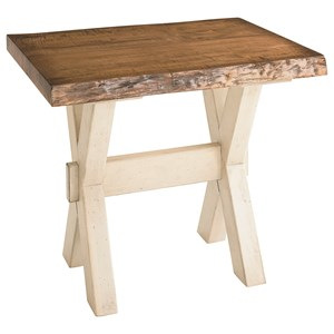 Cross Buck Live Edge End Table