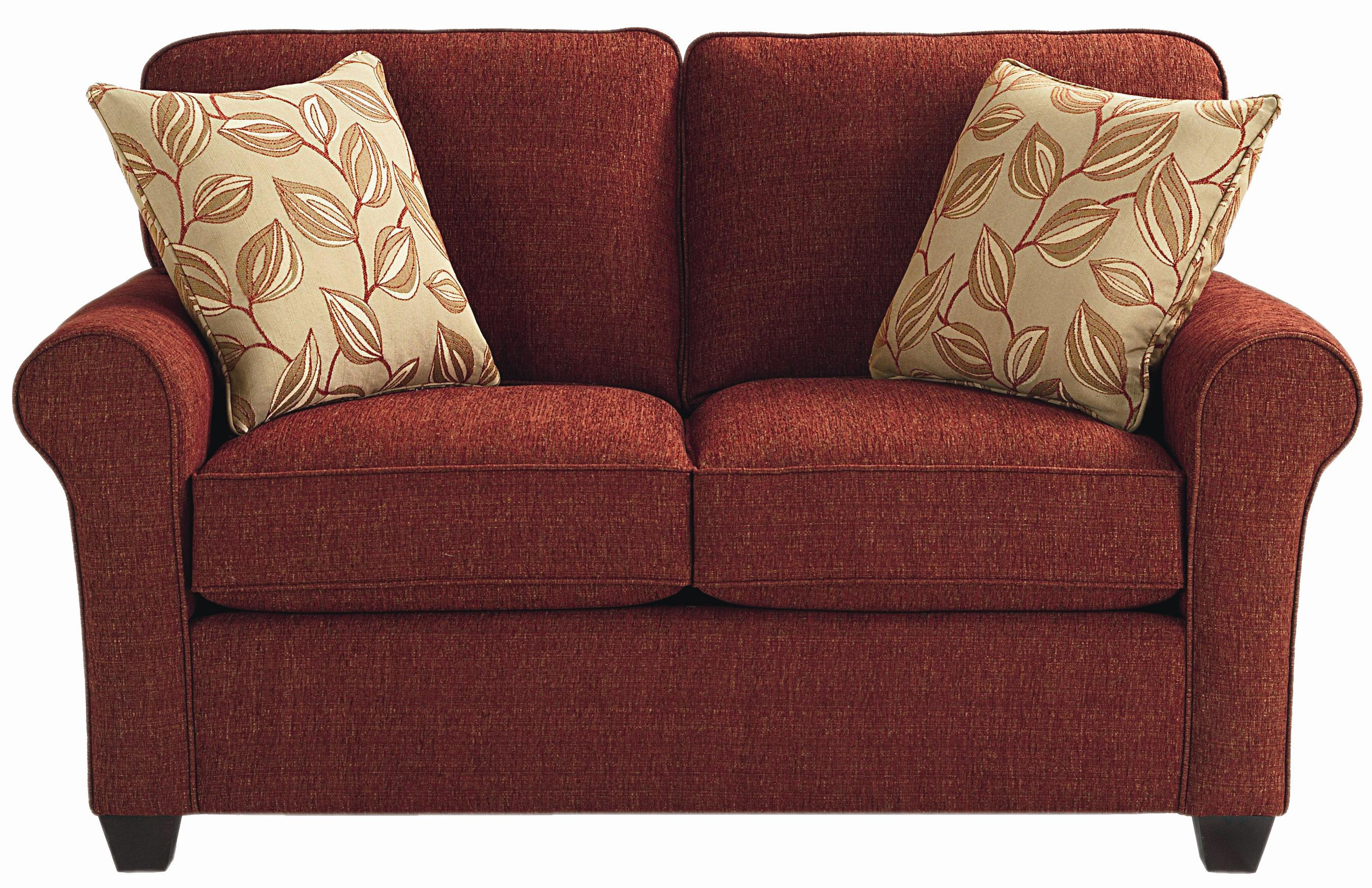 Brewster Upholstered Loveseat With Exposed Wood Feet By Bett