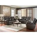 Bassett Bridgeport - Club Level Reclining Living Room Group - Item Number: 3723 Living Room Group 1-Truffle