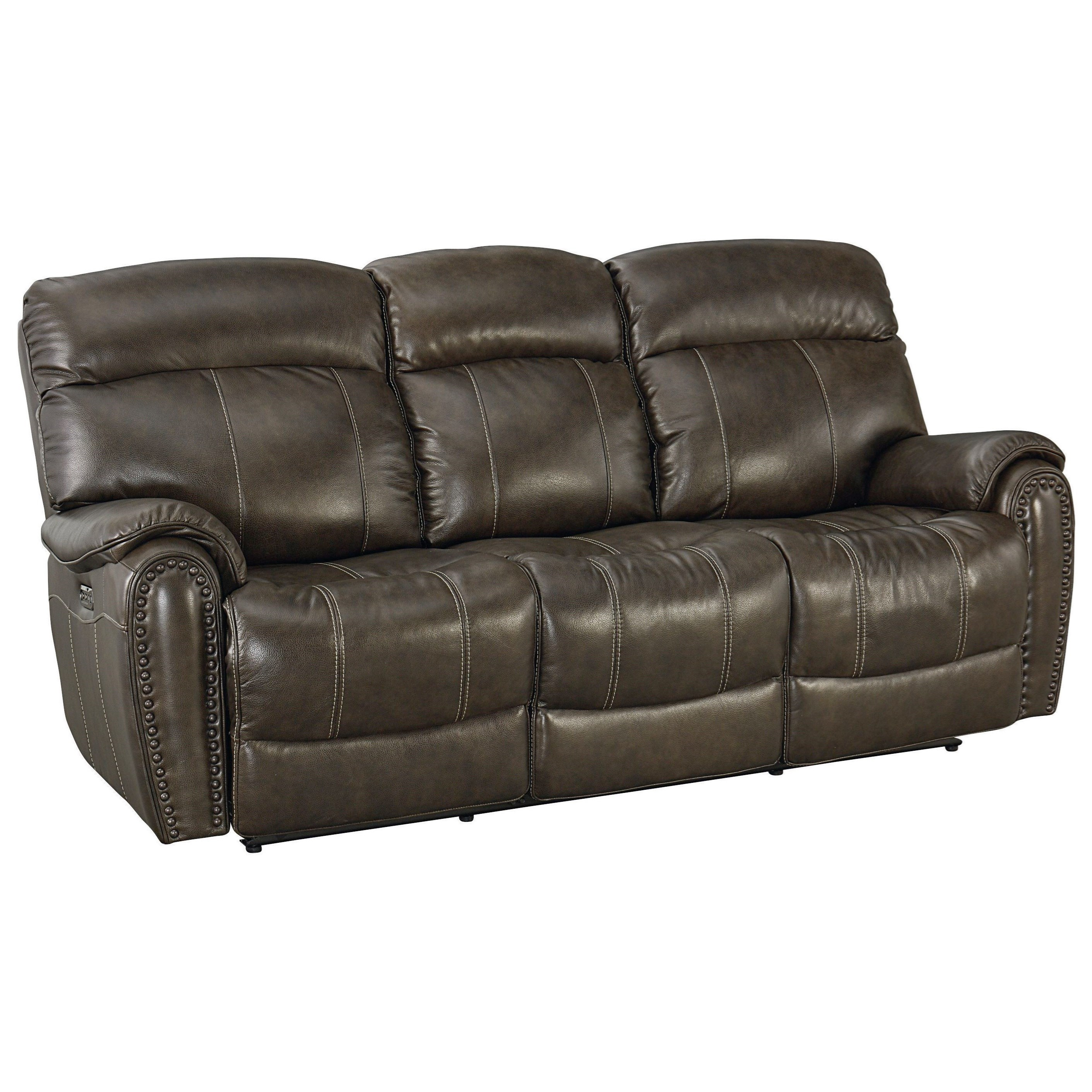Bassett Bridgeport - Club Level 3723-P62 Leather Match Power ...
