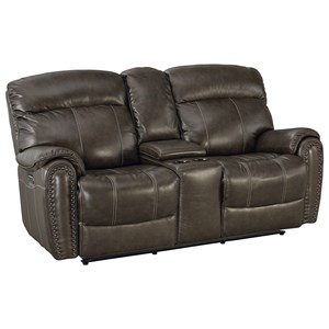 Motion Loveseat with Power HRs and Console