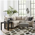Bassett Cameron Sectional Living Room Group - Item Number: 2695 Living Room Group 1