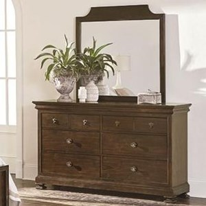 Bassett Chateau Dresser and Mirror Set
