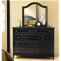 Bassett Chatham 9 Drawer Bureau & Arched Mirror Combo