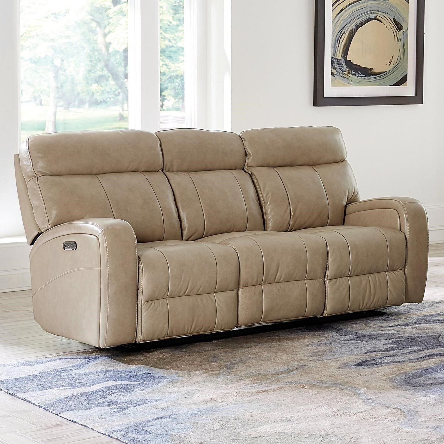Picture of: Bassett Club Level Beaumont 3717 P62a Power Reclining Sofa With Usb Charging Ports Becker Furniture Reclining Sofas