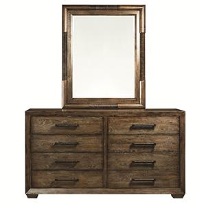Bassett Compass Dresser and Mirror Combo