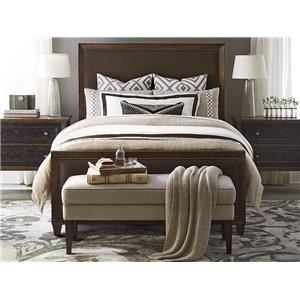Bassett Compass King Upholstered Panel Bed, Dresser, Mirror
