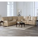 Bassett Conway Reclining Curved Corner Sectional - Item Number: 3715-P62+PC42+P0A