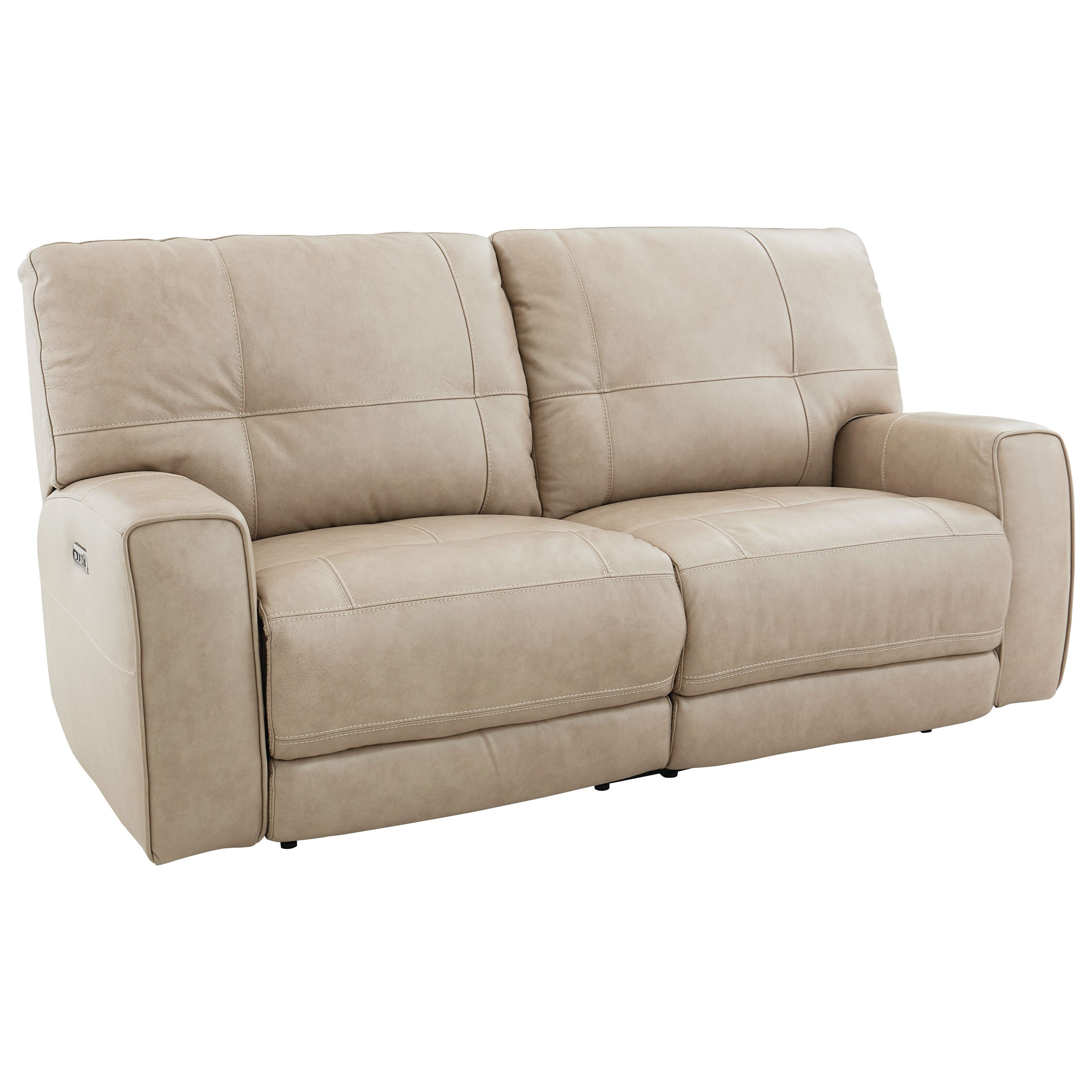 Bassett Conway 3715 P62a Casual Power Reclining Sofa With